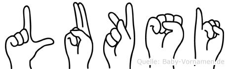 Luksi in Fingersprache für Gehörlose