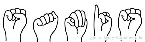 Samis im Fingeralphabet der Deutschen Gebärdensprache