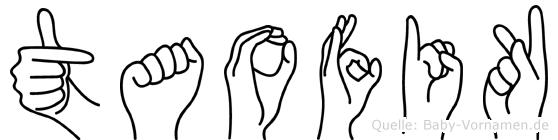 Taofik im Fingeralphabet der Deutschen Gebärdensprache