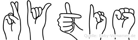 Rytis in Fingersprache für Gehörlose