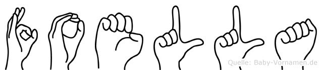 Foella im Fingeralphabet der Deutschen Gebärdensprache