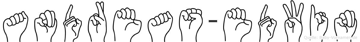 Andreas-Edwin im Fingeralphabet der Deutschen Gebärdensprache