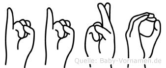 Iiro im Fingeralphabet der Deutschen Gebärdensprache