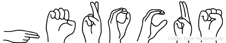 Herocus in Fingersprache für Gehörlose