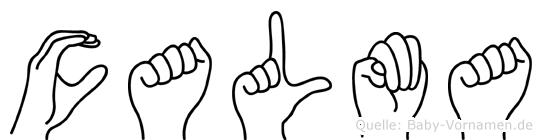 Calma in Fingersprache für Gehörlose