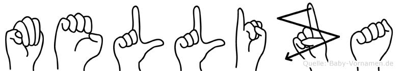Melliza in Fingersprache für Gehörlose