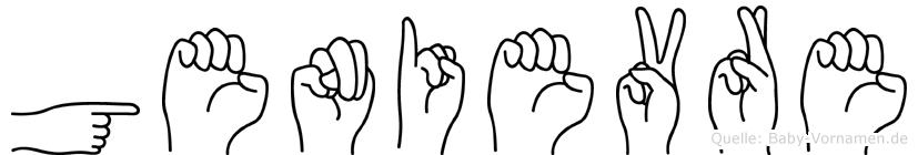 Genievre im Fingeralphabet der Deutschen Gebärdensprache