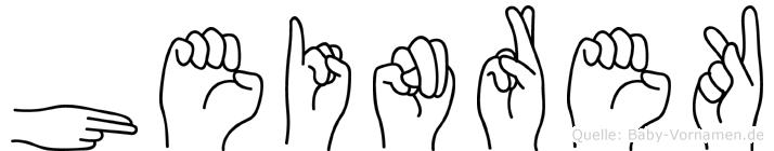Heinrek in Fingersprache für Gehörlose