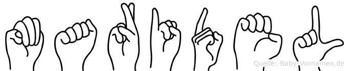 Maridel im Fingeralphabet der Deutschen Gebärdensprache