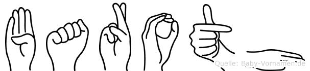Baroth im Fingeralphabet der Deutschen Gebärdensprache