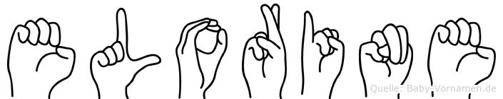 Elorine im Fingeralphabet der Deutschen Gebärdensprache