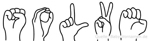 Solve im Fingeralphabet der Deutschen Gebärdensprache
