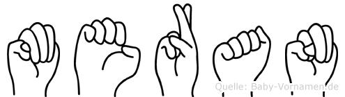 Meran im Fingeralphabet der Deutschen Gebärdensprache
