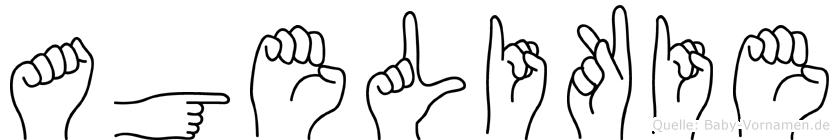 Agelikie im Fingeralphabet der Deutschen Gebärdensprache