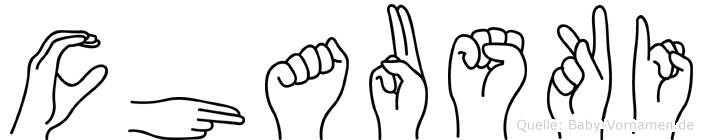 Chauski im Fingeralphabet der Deutschen Gebärdensprache