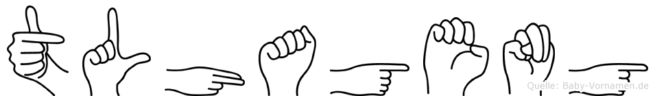 Tlhageng in Fingersprache für Gehörlose