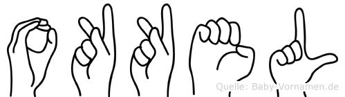 Okkel in Fingersprache für Gehörlose
