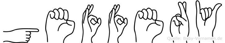 Geffery im Fingeralphabet der Deutschen Gebärdensprache