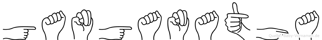 Ganganatha in Fingersprache für Gehörlose