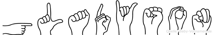 Gladyson in Fingersprache für Gehörlose