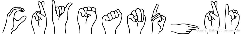 Crysandhri im Fingeralphabet der Deutschen Gebärdensprache