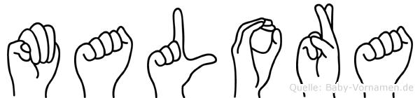 Malora in Fingersprache für Gehörlose