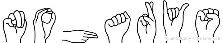 Noharys im Fingeralphabet der Deutschen Gebärdensprache