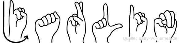 Jarlin im Fingeralphabet der Deutschen Gebärdensprache