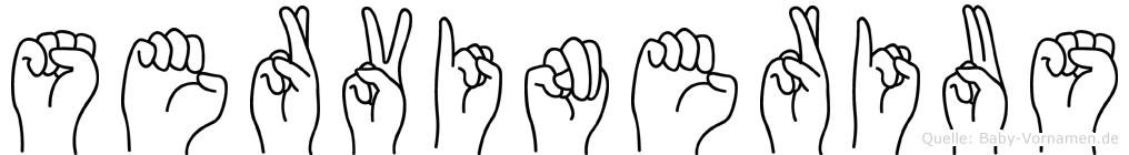 Servinerius in Fingersprache für Gehörlose