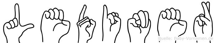 Lediner im Fingeralphabet der Deutschen Gebärdensprache