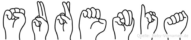 Surenia in Fingersprache für Gehörlose