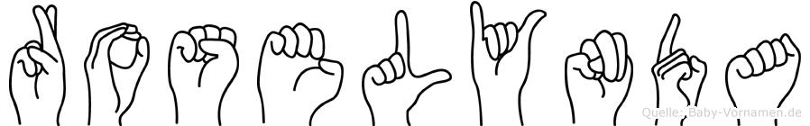 Roselynda in Fingersprache für Gehörlose
