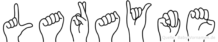 Larayne im Fingeralphabet der Deutschen Gebärdensprache