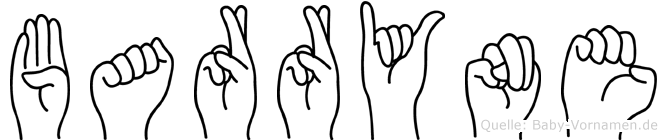 Barryne im Fingeralphabet der Deutschen Gebärdensprache