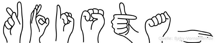 Kfistah im Fingeralphabet der Deutschen Gebärdensprache