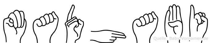 Madhabi im Fingeralphabet der Deutschen Gebärdensprache
