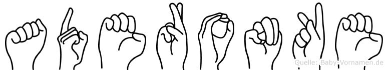 Aderonke im Fingeralphabet der Deutschen Gebärdensprache