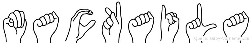 Mackaila in Fingersprache für Gehörlose