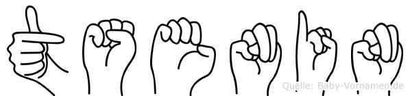 Tsenin in Fingersprache für Gehörlose