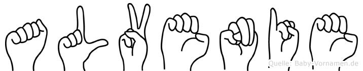 Alvenie in Fingersprache für Gehörlose