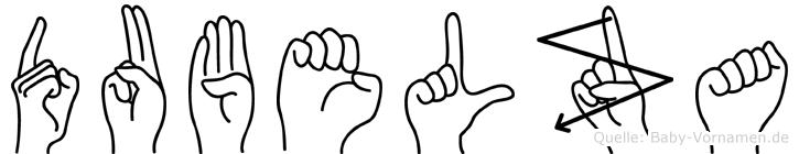 Dubelza im Fingeralphabet der Deutschen Gebärdensprache