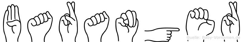 Baranger im Fingeralphabet der Deutschen Gebärdensprache