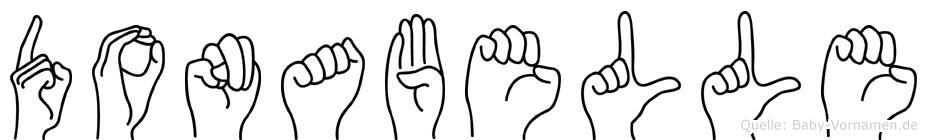 Donabelle in Fingersprache für Gehörlose