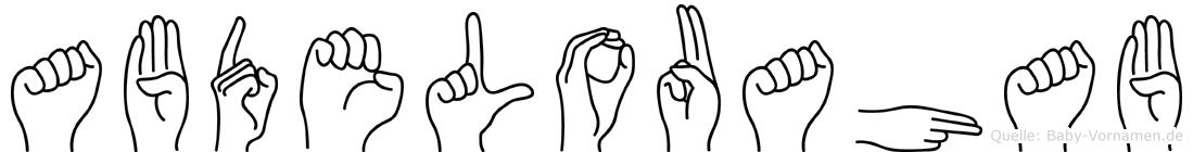 Abdelouahab im Fingeralphabet der Deutschen Gebärdensprache