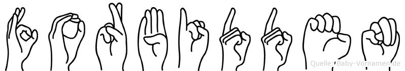 Forbidden im Fingeralphabet der Deutschen Gebärdensprache