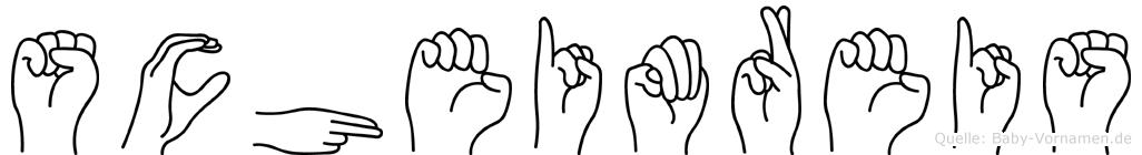 Scheimreis in Fingersprache für Gehörlose