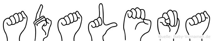 Adalena in Fingersprache für Gehörlose