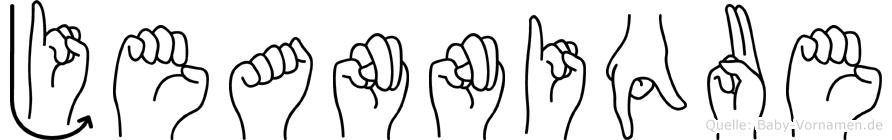 Jeannique in Fingersprache für Gehörlose