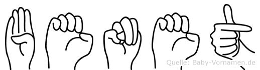 Benet im Fingeralphabet der Deutschen Gebärdensprache