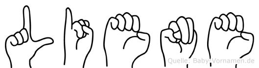 Liene im Fingeralphabet der Deutschen Gebärdensprache